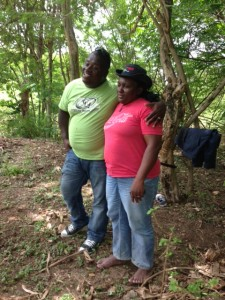 Dou Dou and his wife at their home site.