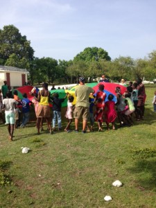 Games with community children.